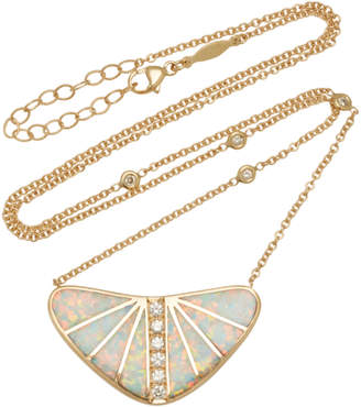 Jacquie Aiche One-Of-A-Kind Large Opal Inlay Boomerang Necklace