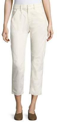 Vince Utility Carpenter Straight-Leg Pants, Natural