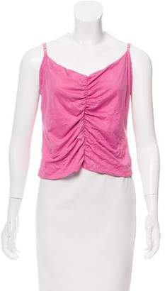 Nicole Miller Sleeveless Ruched Top