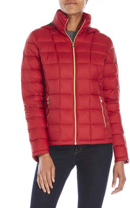 MICHAEL Michael Kors Hooded Packable Down Jacket