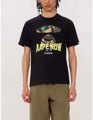 Selfridges Aape Camouflage logo-graphic cotton-jersey T-shirt