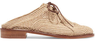 Clergerie Jaly Lace-up Raffia Slippers