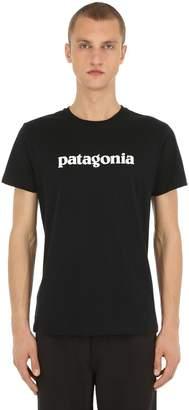Patagonia Text Logo Print Organic Cotton T-Shirt