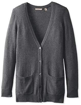 Cashmere Addiction Women s Button Down Boyfriend Cardigan Sweater 3ca3b9548