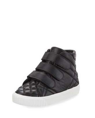 Burberry Calf Leather Quilted Boot, Black, Toddler Sizes 7-10