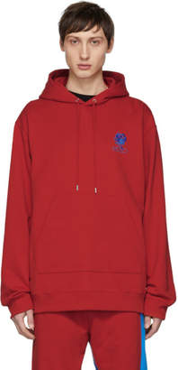 Kenzo Red Embroidered Logo Hoodie