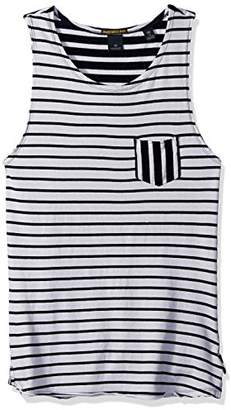 Scotch & Soda Men's Singlet in Jersey Quality with Yarn-Dyed Stripe Pattern and