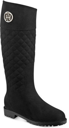 Tommy Hilfiger Babette Quilted Rain Boots $89 thestylecure.com