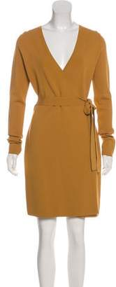 Diane von Furstenberg Long Sleeve Mini Wrap Dress