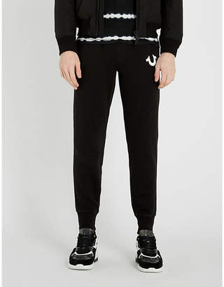 True Religion Logo-embroidered cotton-jersey jogging bottoms