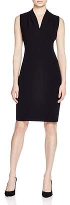 T Tahari Tonya Pleat-Shoulder Dress