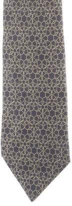 Hermes Animal Print Silk Tie