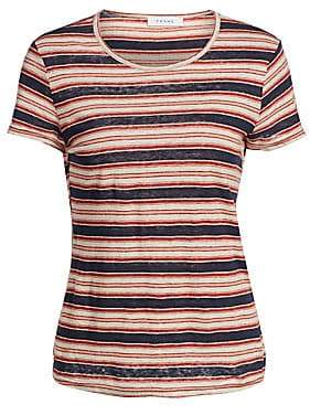 Frame Women's True Striped Linen Tee