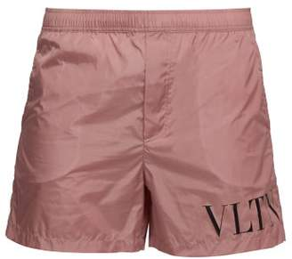9b1c122675edd Valentino Vltn Logo Printed Swim Shorts - Mens - Pink
