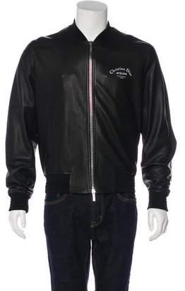 Christian Dior 2018 Logo Lambskin Bomber Jacket