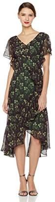 Social Graces Women's Faux-Wrap Ruffle High/Low Dress