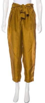 Raquel Allegra High-Rise Silk Pants w/ Tags