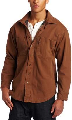 Key Apparel Men's Big-Tall Flannel Lined Duck Shirt/Jacket