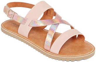 2588e6a67a0d Arizona Little Kid Big Kid Girls Verona Criss Cross Strap Flat Sandals
