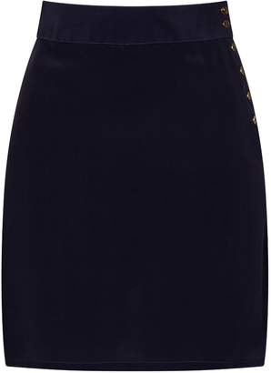 Sophie Cameron Davies - Midnight Blue Silk Skirt