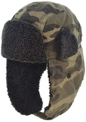 Levi's Camo Faux Shearling Lined Cotton Trapper Hat