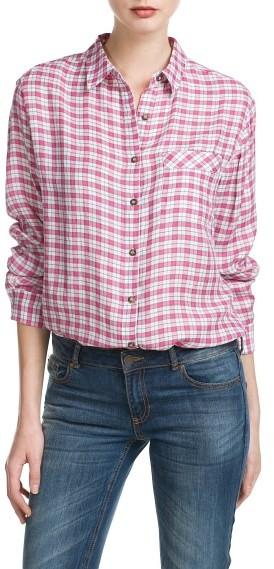 MANGO Outlet Check Lightweight Shirt