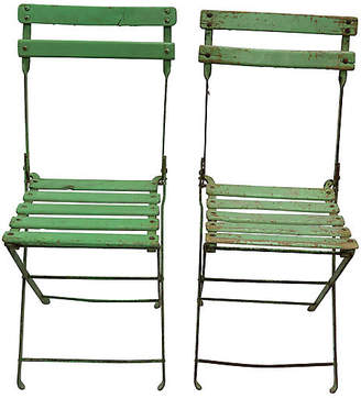 ... One Kings Lane Vintage Mid Century French Bistro Chairs   Set Of 2