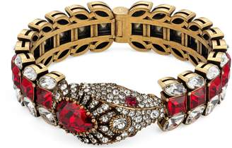 Gucci Snake bracelet with crystals