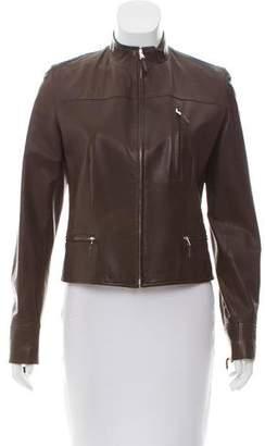 Ralph Lauren Black Label Zip-Up Leather Jacket