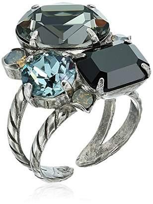 Sorrelli Onyx Emerald Cluster Ring