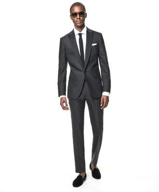 Todd Snyder Black Label Sutton Fit Peak Lapel Tuxedo Jacket in Grey Wool