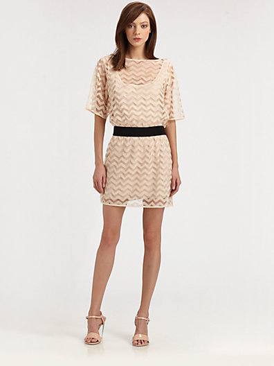 Milly Brecht Chevron Dress