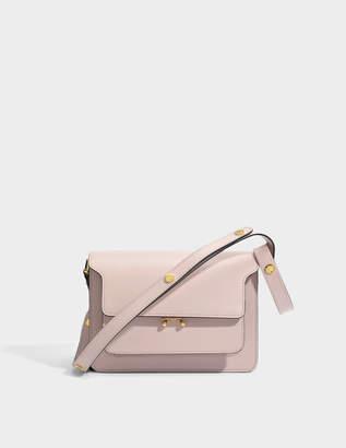 Marni Medium Trunk Bag in Quartz Matte Calfskin