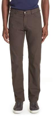 Canali Stretch Cotton & Silk Five Pocket Trousers
