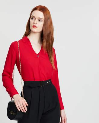 Dorothy Perkins Button Long Sleeve Top