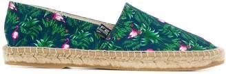 fe-fe tropical print espadrilles