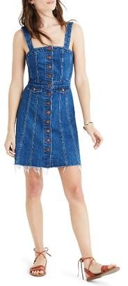 Women's Madewell Raw Edge Denim Dress $128 thestylecure.com