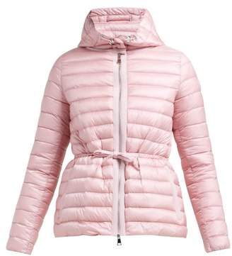 Moncler Raie Hooded Quilted Down Coat - Womens - Light Pink