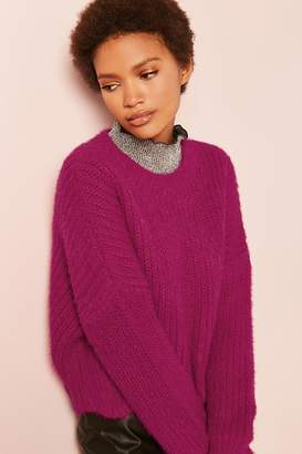 Forever 21 Brushed Ribbed Knit Sweater