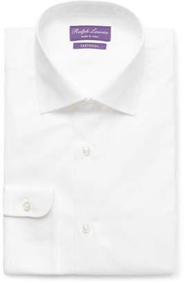 Ralph Lauren Purple Label White Aston Cotton-Poplin Shirt