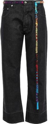 Loewe Embellished High-rise Straight-leg Jeans