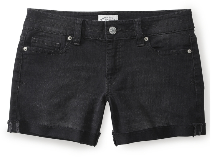 Aeropostale Black Denim Boyfriend Shorts