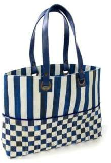 Mackenzie Childs Royal Check Bistro Tote
