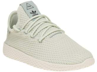 1e8e5ab77f8 at eBay Fashion Outlet · adidas New Girls Green Pharrell Williams Tennis Hu  Nylon Trainers Retro Lace Up