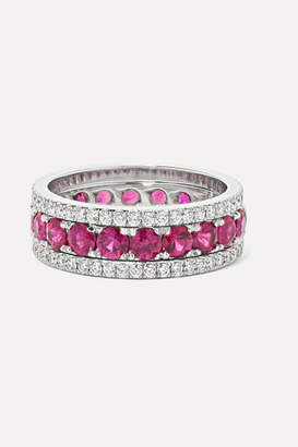 Bayco Platinum, Ruby And Diamond Ring