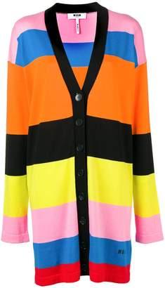 MSGM striped longline cardigan
