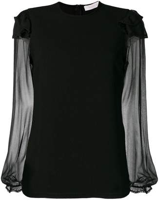 See by Chloe sheer sleeve blouse