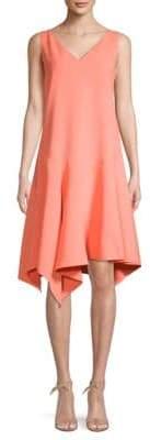 Lafayette 148 New York Floretta Asymmetric Flounce Dress