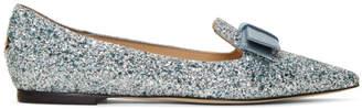 Jimmy Choo Silver Gala 35 Loafers