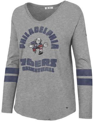 '47 Women Philadelphia 76ers Spirit Script Long Sleeve T-Shirt